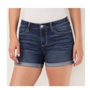 LC Lauren Conrad Cuffed Jean Shorts 4